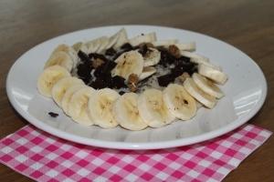 Havermout met banaan en chocolade