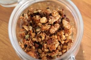 Home made granola zonder suiker