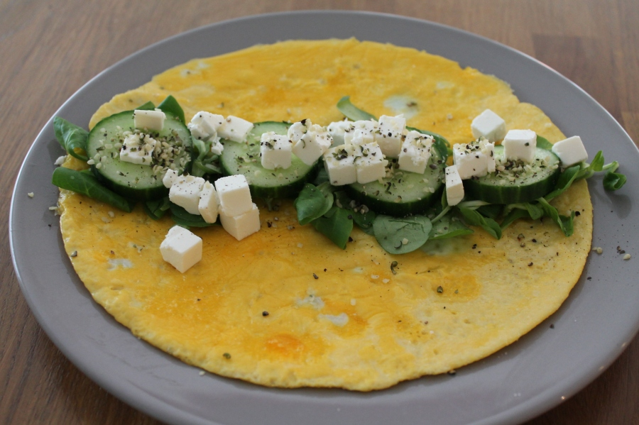 omelet wrap met feta