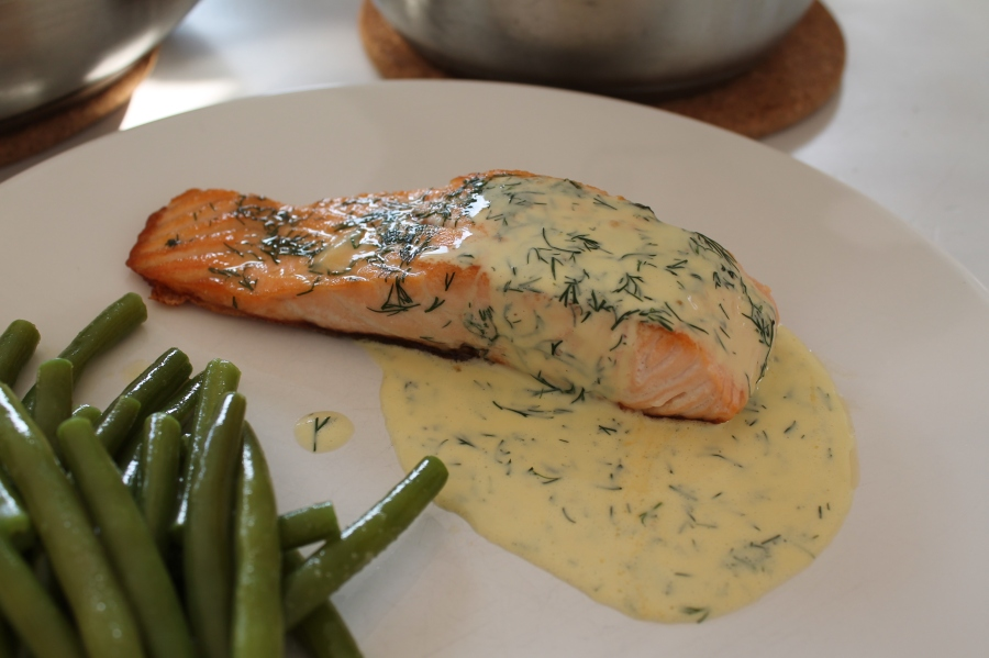 zalm met dille citroen mayonaise
