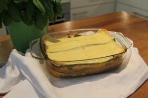 Courgette lasagne met spinazie