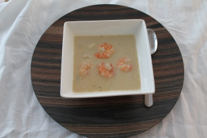 Thaise kokos soep met garnalen