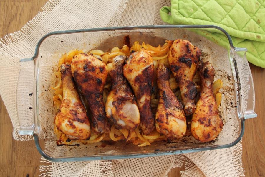 oosterse kip uit de oven