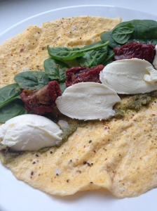 omelet wrap met mozzarella