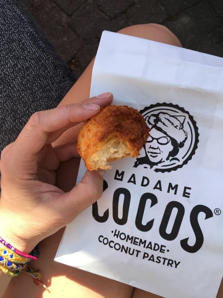Madame Cocos is er ook. Super lekker! En je kan de makronen meenemen naar huis om extra lang te genieten van de Rollende Keukens
